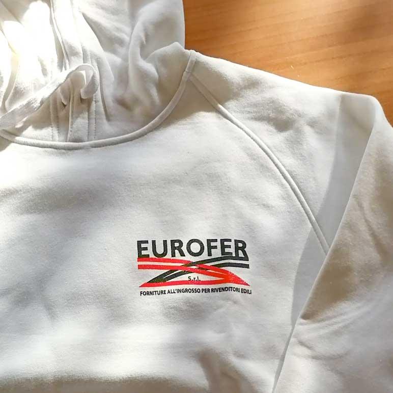 Eurofer materiali edili felpa con logo