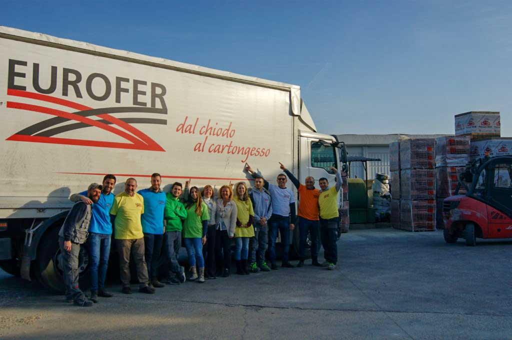 Eurofer Roma camion staff