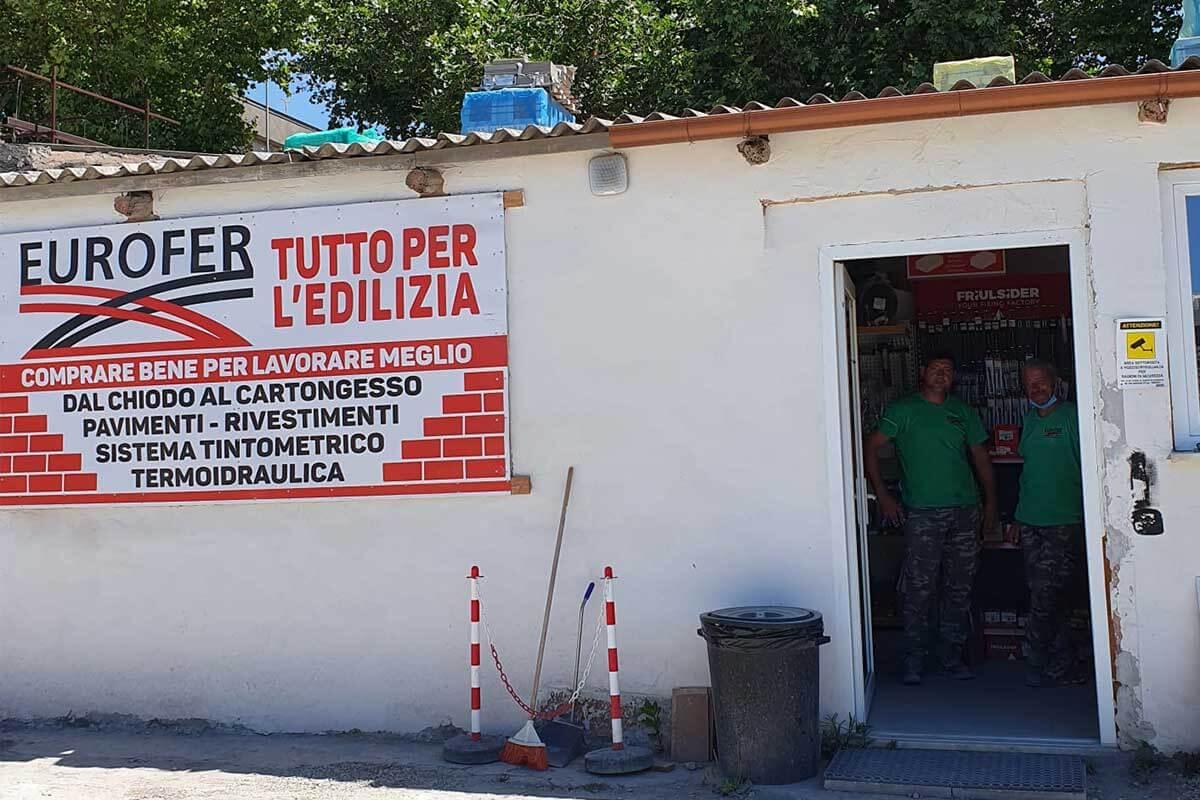 Eurofer Civitavecchia entrata punto vendita